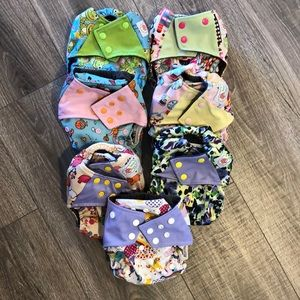 7 Happy Flute All in One Cloth Diapers Girl AIO